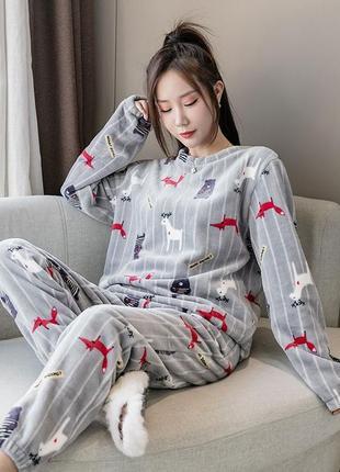 💥роскошная женская плюшевая пижама домашний костюм💥