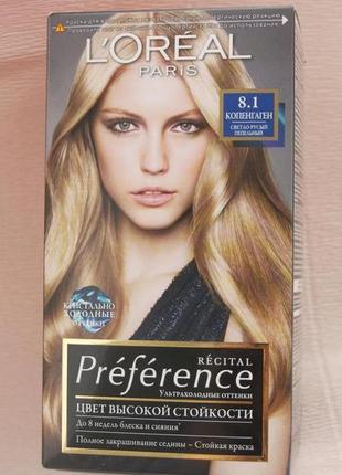 Краска для волос loreal preference 8.1 -копенгаген