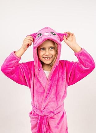 Халат дитячий теплий, рожевий