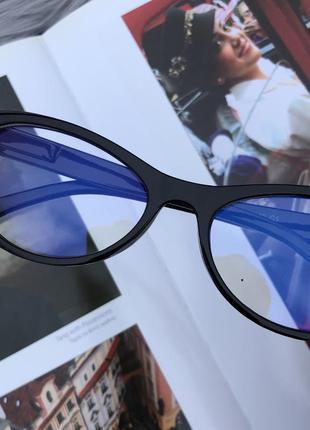 Уценка! прозрачные очки в черной пластиковой оправе для пк3 фото