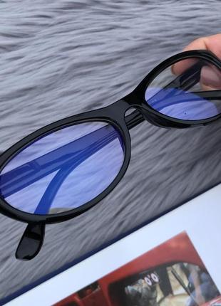 Уценка! прозрачные очки в черной пластиковой оправе для пк2 фото