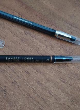 Олівець для очей lambre/светлый карандаш для глаз/карандаш deep colour/smoky eyes