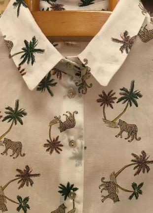 Очень красивая и стильная брендовая рубашка оверсайз..100% коттон.