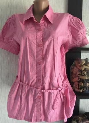 Блуза рубашка розового цвета only1 фото