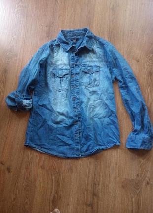 Джинсовая рубашка распродажа