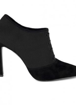 Новые туфли ботильоны ботинки  nine west замша оригинал шпилька шнуровка