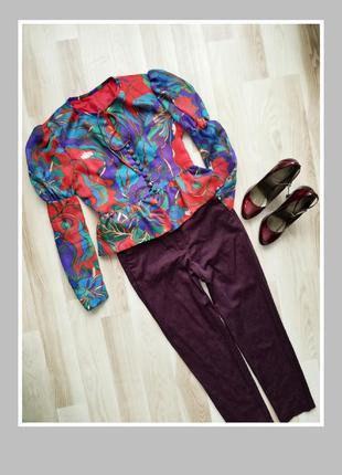 Укороченые зауженные брюки с высокой посадкой per una