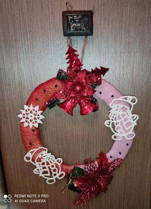 Віночок, декор, новорічний, різдво