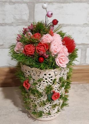 Цветы ручная работа