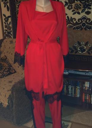 Халат , пижама тройка 🔥🔥🔥