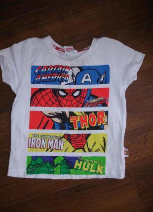Фирменная футболка на 1,5-2 года хлопок идеал