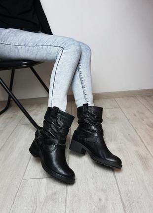 🔥🔥🔥ботинки черные из натуральной кожи, италия, оригинал, giordano moda, 38 р