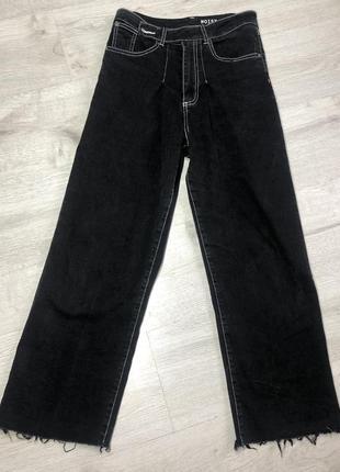 Чёрные джинсы кюлоты