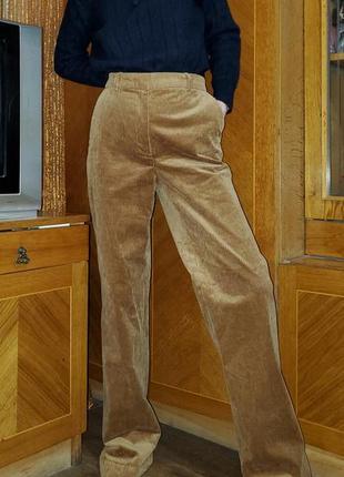 Вельветовые широкие брюки ровного покроя h&m