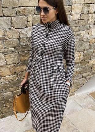 Стильне плаття міні гусяча лапка