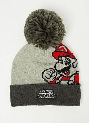Зимняя шапка на мальчика марио super mario george англия