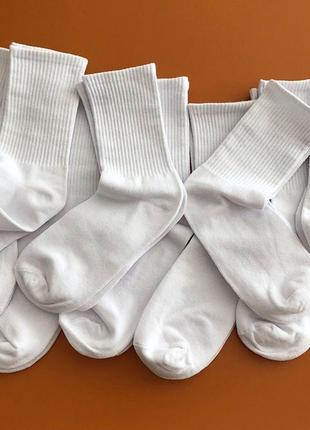Однотонные высокие хлопковые носки