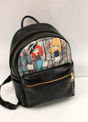 Рюкзак, рюкзак для девочек, ранец, эко кожа