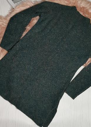 Теплое платье туника гольф в составе шерсть