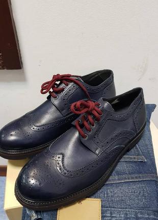 Итальянские туфли дерби броги exton 42 оригинал