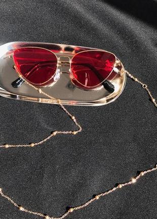 Стильная металлическая цепочка для очков