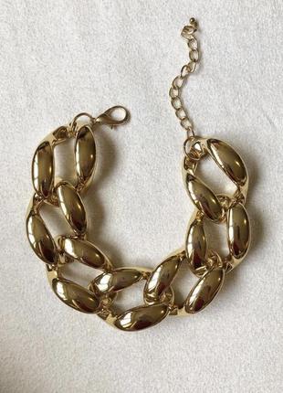 Золотая массивная цепь