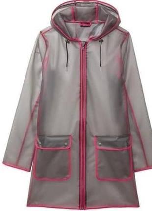 Плащ-дождевик, модный в этом сезоне  прозрачный  esmara