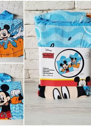 Disney испания пляжное пончо с капюшоном принт микки маус