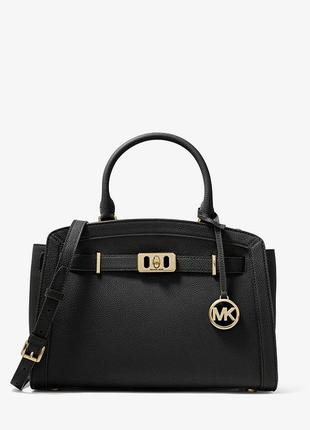 Сумка женская michael kors karson large pebbled leather belted satchel, оригинал