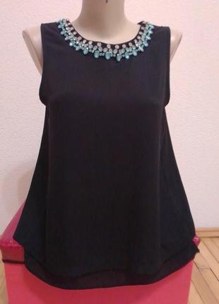 Шифоновая черная блузка от dorothy perkins