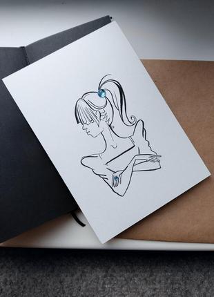 Авторская открытка handmade