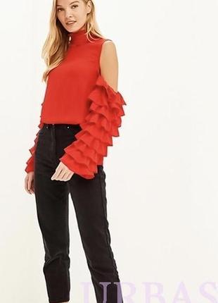 Блуза нарядная эффектная с рюшами