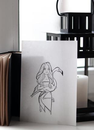 Авторская иллюстрация, открытка