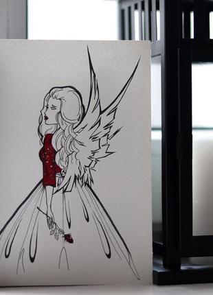 Авторская открытка, декор handmade