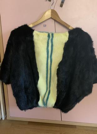 Шубка-свитер из цветной натуральной норки италия
