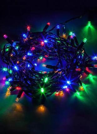 Гирлянда разноцветная новогодняя на ёлку елку ночник