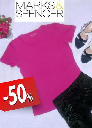 Красива рожева футболка marks&spencer cotton