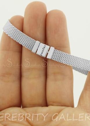 Браслет в стиле пандора серебряный sr pfбр rl rd  размер 18,5 серебро 925