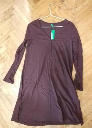 Новое легкое платье-рубашка united colors of benetton