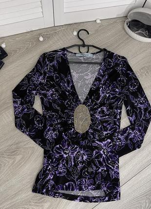 Джемпер свитер сиреневый фиолетовый с вырезом блюмарин blumarine италия 42 36