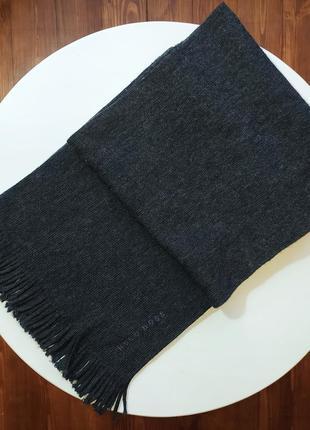 Оригинал🔥уценка черный темно серый шерстянoй мужской шарф