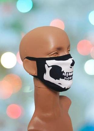 "Креативна маска для обличчя з 3d принтом ""щелепа"""