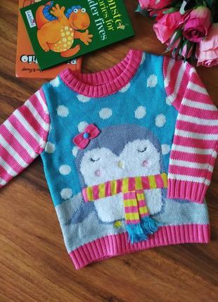 Шикарный свитерок для милашки nutmeg на 1-1,5 года.