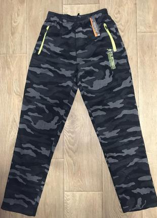 Тёплые камуфляжные мужские штаны размеры m-3xl