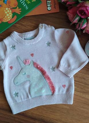 Нежный трикотажная свитерок на малышку primark на 3 месяца.