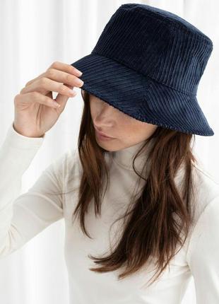 Шляпа- панама из вельвета.