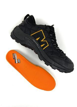 Merrell moc 2 black orange кроссовки женские черные