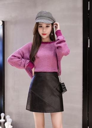 На весну🔥супер стильная мини юбка экокожа