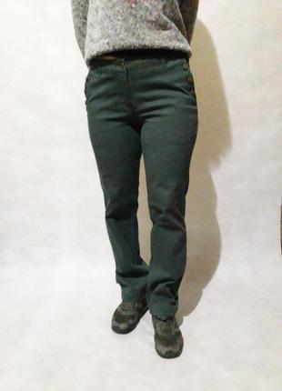 Темно зелёные  джинсы