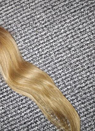 Волосы для наращивания натуральные блонд 40 грамм